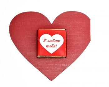 Свадебная открытка с шоколадкой