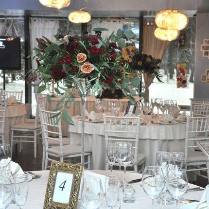Мартиницы с цветами на столы гостей