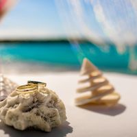 Подставка-коралл для колец на свадьбе в Доминикане