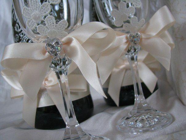 Фужеры. - фото 880247 Татьяна Уразаева - свадебные аксессуары