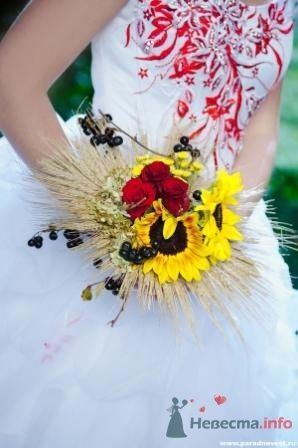 Каркасный букет с колосьями - фото 1097 Флорист-дизайнер Елена