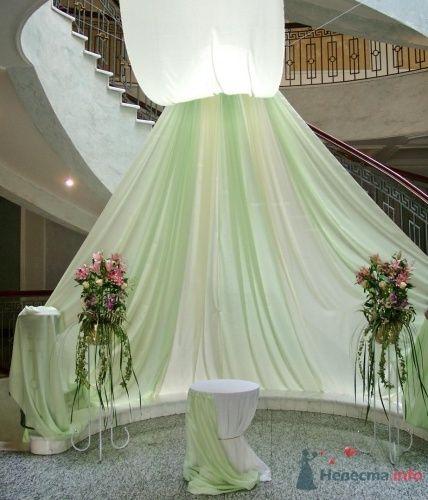 Оформление выездной регистрации брака(шатер из органзы) - фото 1104 Флорист-дизайнер Елена