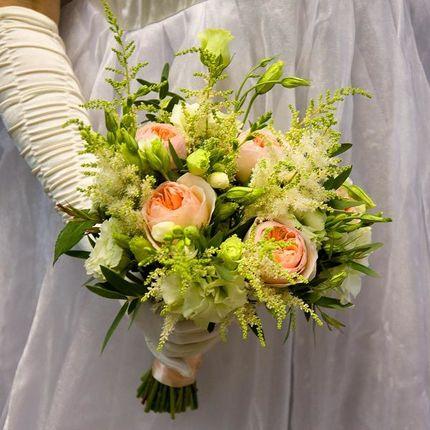 """Букет невесты из пионовидных роз """"Pastel"""""""