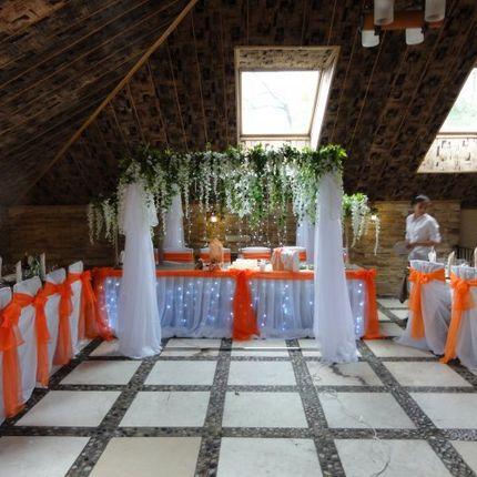 Оформление оранжевой свадьбы + альков