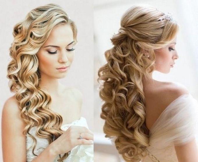 Прически на свадьбу на длинные волосы своими руками фото