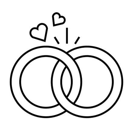 Обручальное кольцо из палладия под ключ