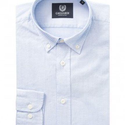 Небесно-голубая жаккардовая сорочка Gagliardi