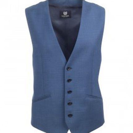 Темно-голубой мужской жилет Gagliardi
