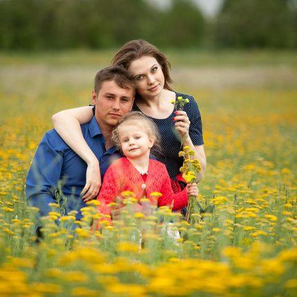 Семейные фото Счастливая семья