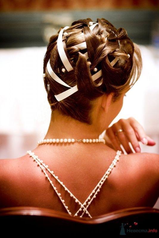 Свадебная прическа на волосы средней длины. Свадебный макияж. - фото 63311 Стилист-визажист Кандалова Елена
