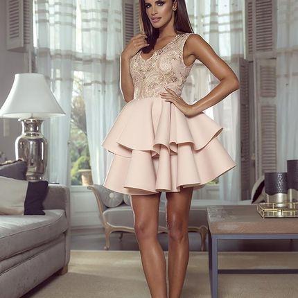 Коктейльное платье с кружевным верхом и неопреновой юбкой