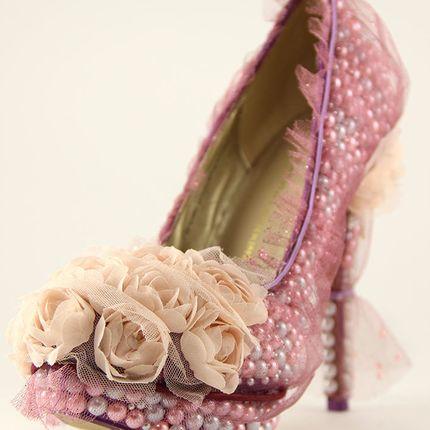"""Свадебные туфли - модель """"Фуксия"""""""