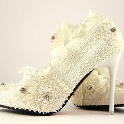 """Свадебные туфли авторской работы - модель """"Золушка"""""""
