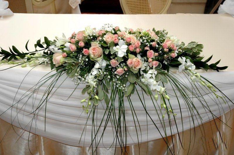 Украшения из цветов на свадебный стол