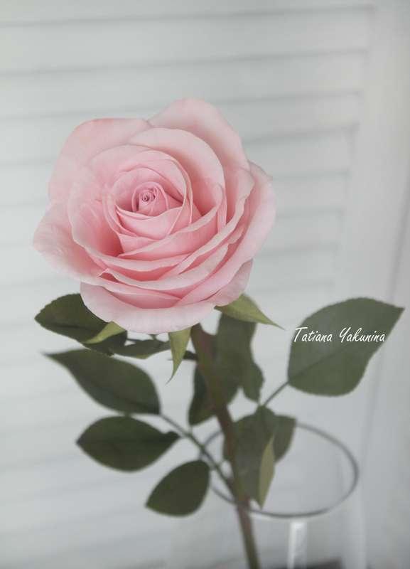 Невероятно нежный, уютный и неувядающий интерьерный букет из роз. Розы-что может быть прекрасней? Отныне вы всегда сможете ими любоваться ,они никогда не завянут!  Розы выполнены из фоамирана в натуральную величину ( высота розы 50 см ),стебель выполнен и - фото 18146492 Татьяна Якунина - свадебные букеты и украшения