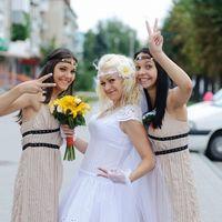 Невеста и её подружки в бежевом