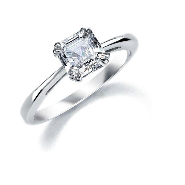 Кольцо PT950 Solitar ring