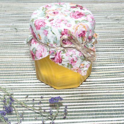 Медовая баночка-бонбоньерка со льном