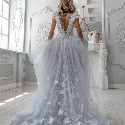 Свадебное платье с бабочками арт. 04