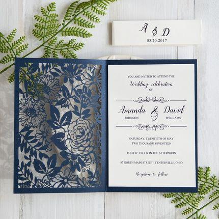 Свадебные приглашения с вкладышем, цена за 1 шт