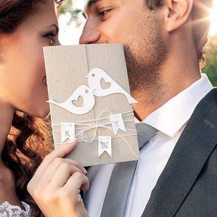 """Свадебное приглашение  """"Птички"""""""