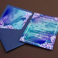 Конверт из тонкой дизайнерской бумаги серии Stardream. Вкладка и карточка из мелованной бумаги. Карточка односторонняя Стоимость - 1,05 у.е