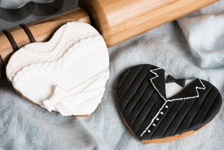 Расадочные карточки-печенье Жених и невеста