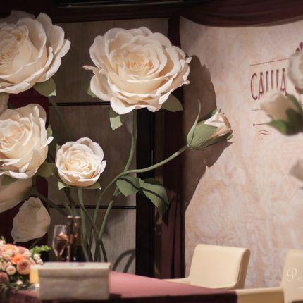 21 бумажная чайная роза - аренда