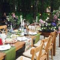 стол на свадьбе в стиле бохо