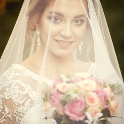 Букет невесты из роз флорибунда