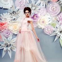 АВТОРСКОЕ свадебное платье ЗЕФИР Платье выполнено в смешанной технике - верх валяный на тонком мериносе (14 микрон) с добавлением шелка, шелковых нитей, вискозы и винтажной тесьмы -  плиссе, низ платья - фатиновая разноуровневая юбка. Нежный , пудровый цв