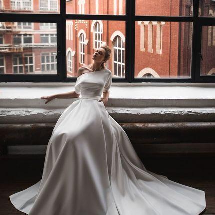 "Атласное платье ""Ангелина"""