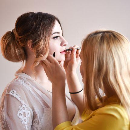 Репетиция причёски и макияжа невесты