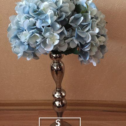 Серебряная подставка с цветами
