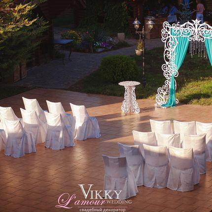 Оформление церемонии кружевной аркой - пакет 2
