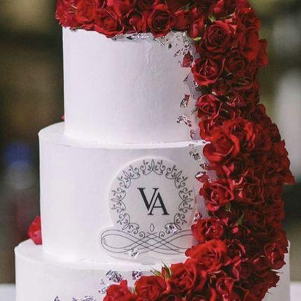 """Торт """"Розы и вензель"""", 10 кг"""