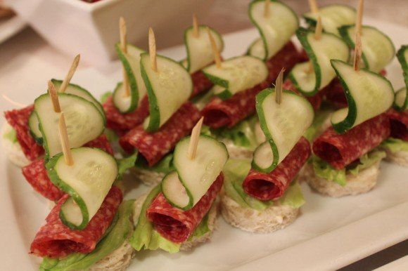 Канапе мясные на шпажках рецепты с фото