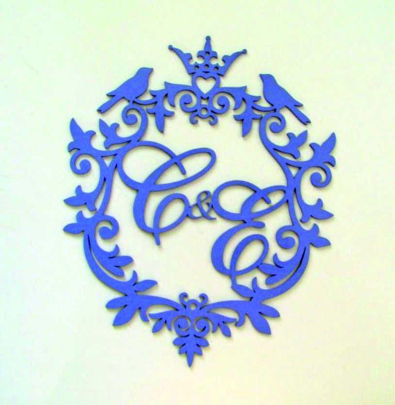 Фамильный герб, монограмма с инициалами