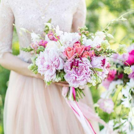 Авторский букет невесты из пионов