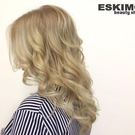 Окрашивание волос на среднюю длину