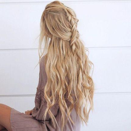 Окрашивание длинных волос  в один тон