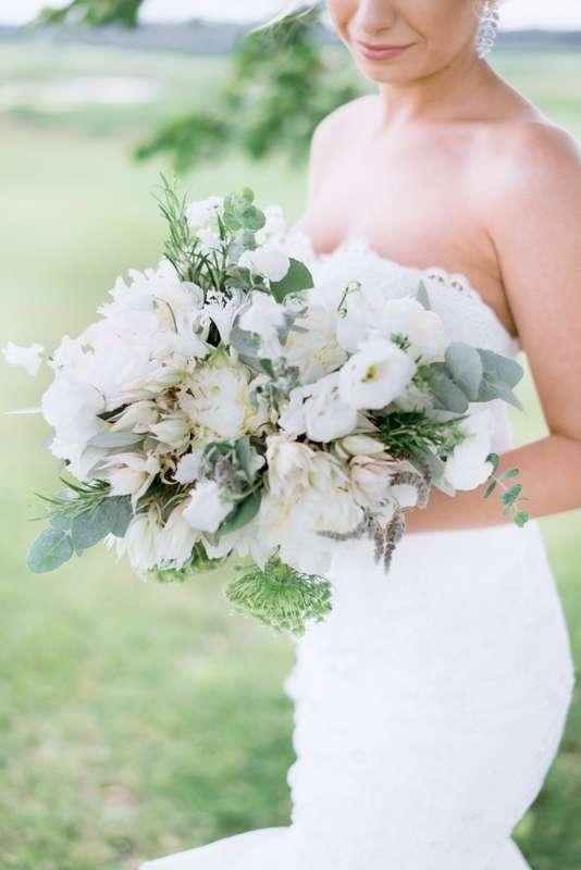 Искусственные цветы, букет невесты анастасия