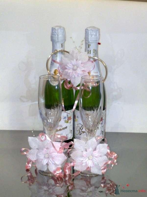 """Украшение на шампанское - фото 33073 Компания """"Стильная Свадьба"""""""
