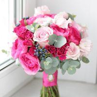 яркий букет, ягодный букет, малиновый букет, пионовидные розы