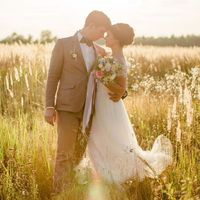 свадьба прованс, закат, фото на закате, красивая пара