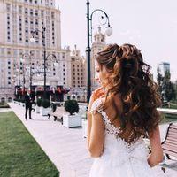 Свадебный хвост из локонов