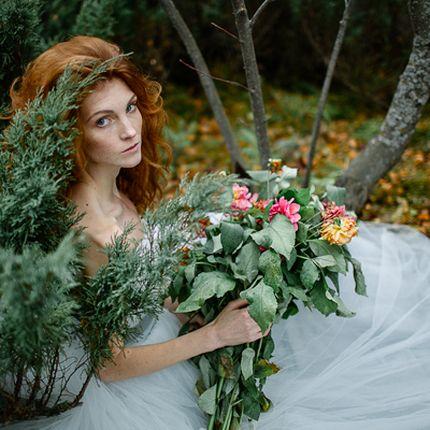 Стилизованная фотосъёмка невесты