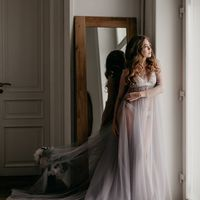 Роскошное будуарное платье со шлейфом