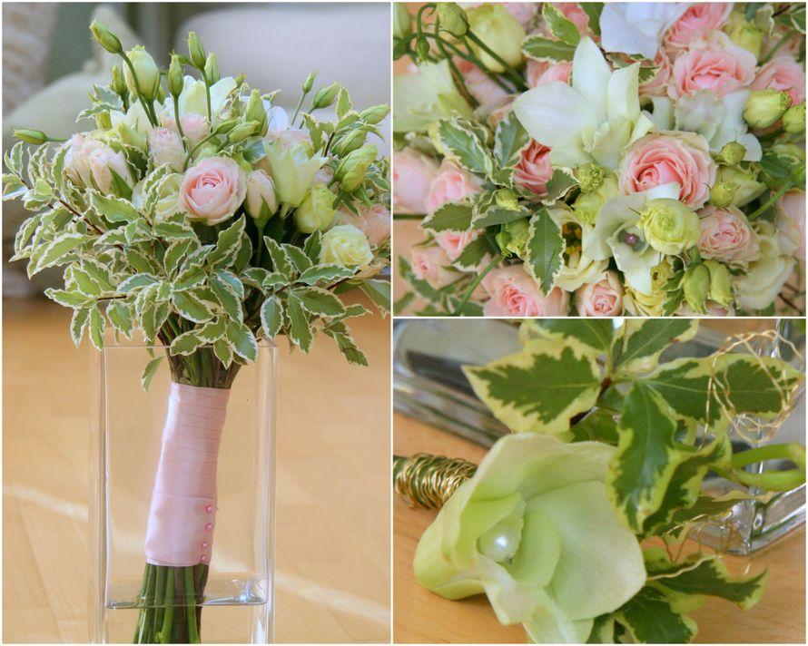 """Букет невесты и бутоньерка - фото 588069 Мастерская декора """"Flowerdesign"""""""