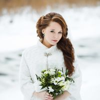 Свадебный образ для красавицы невесты Катеньки. Makeup@hairstyle: Светлана Коломиец